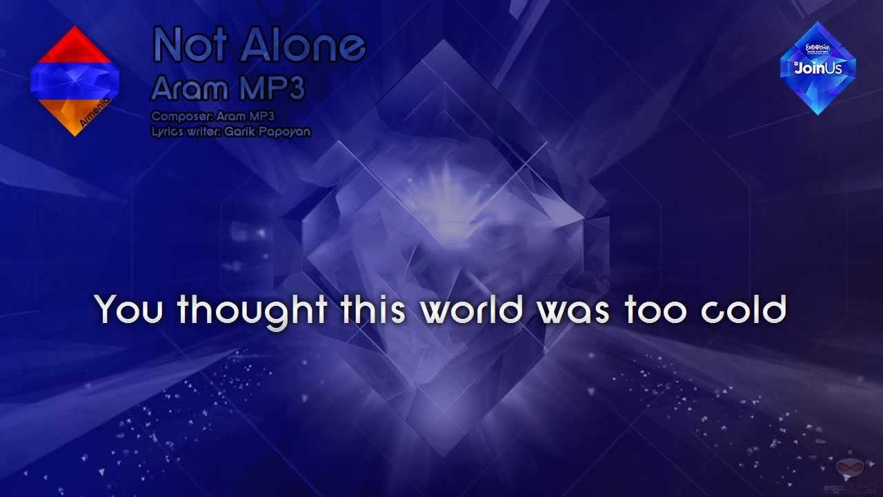 "Aram MP3 – ""Not Alone"" (Armenia)"