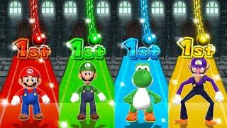 Mario Party 9 Step it Up - Luigi Vs Mario Vs Yoshi Vs Waluigi (Master Cpu)
