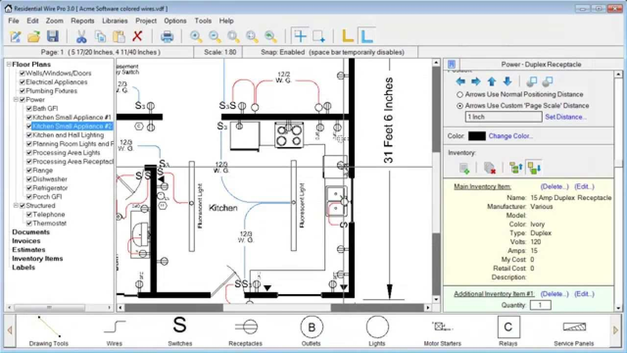 Residential Wire Pro Learning Center Home Wiring Plans Floor Will Show You The Basic Features Of Program And Teach How To Use Various Tools For Creating Designing Electrical Diagrams