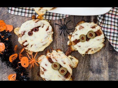 Pizza Mummies - Spooky Halloween Recipes - Weelicious