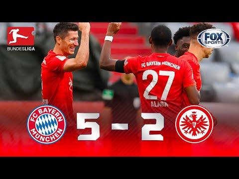 LEWANDOWSKI E ATROPELO! Melhores Momentos de Bayern de Munique 5 x 2 Frankfurt pela Bundesliga