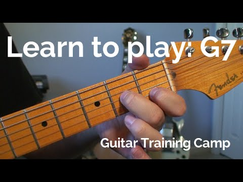 Beginner Guitar Lessons: How to play a G7 chord
