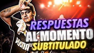 ACZINO   EL REY DE LAS RESPUESTAS AL MOMENTO!! *Subtitulado* (Freestyle rap)