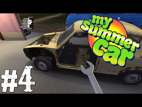 My Summer Car | #4 - Podvozek je Hotový-Auto už má 4 kola :D ! | CZ/SK