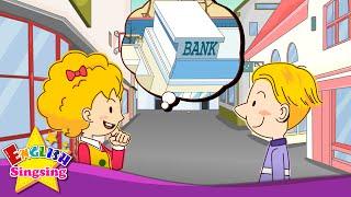 Xin lỗi. Ngân hàng ở đâu? (Hỏi đường)