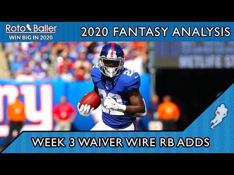 Week 3 Running Backs – Waiver Wire Pickups for Fantasy Football