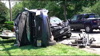 'It Looked Like a Stunt': Wild Long Island Crash Sends Baby, 3 Adults to Hospital | NBC New York