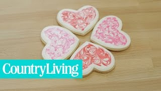 Marble Heart Cookies | Country Living