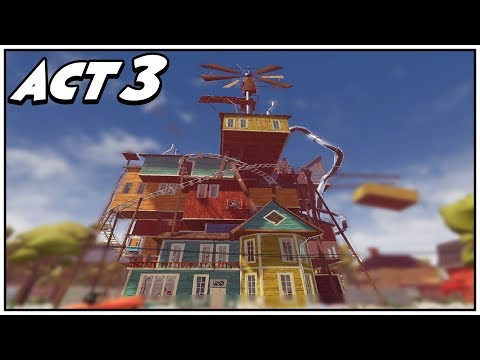 Download Hello Neighbor Act 3 In Minecraft Video 3GP Mp4 FLV HD Mp3