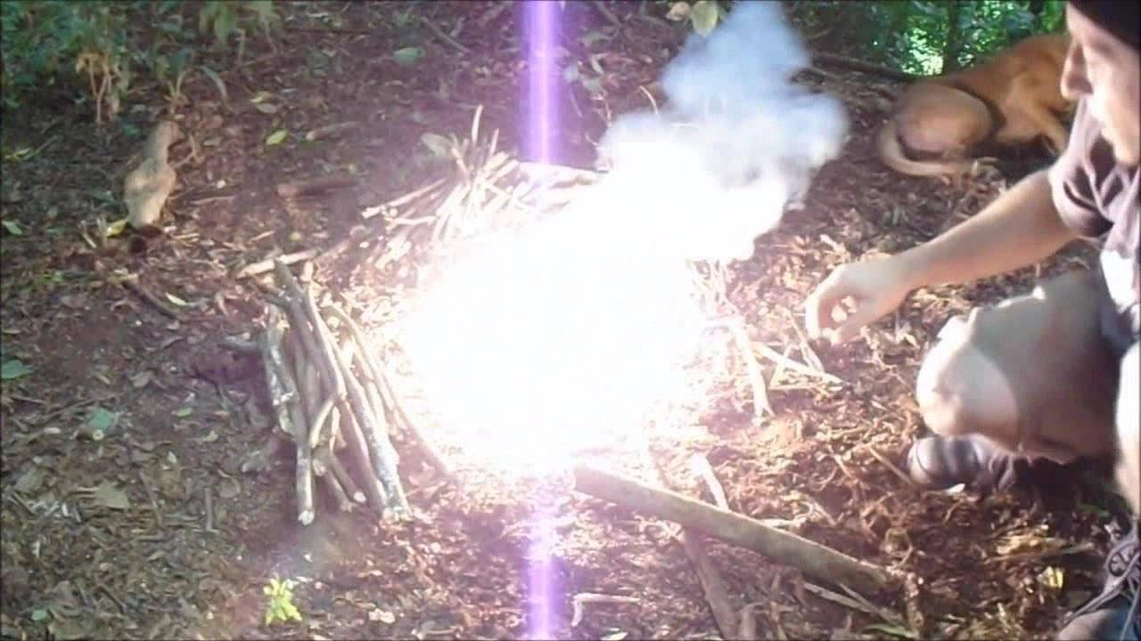 ?Como fazer fogo com arame? (Tecnica militar)ascendendo fosforo e polvora.