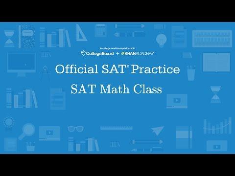 Khan Academy Live: SAT Math Class - YouTube