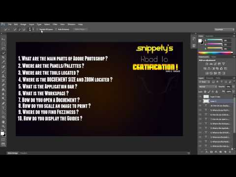 Photoshop Certification: First 10 Questions - YouTube
