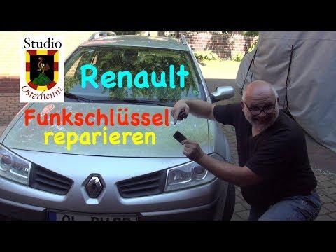 Tipp Renault Scenic Schlüssel Funkschlüssel reparieren radio key repair Karte nicht erkannt