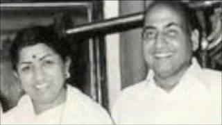 Sun Mere Sajana Re .Lata ji & Rafi in Aansoo. - YouTube