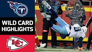 Titans vs. Chiefs: Mariota's Self Pass and the 18-Point Comeback! | NFL Wild Card Game Highlights