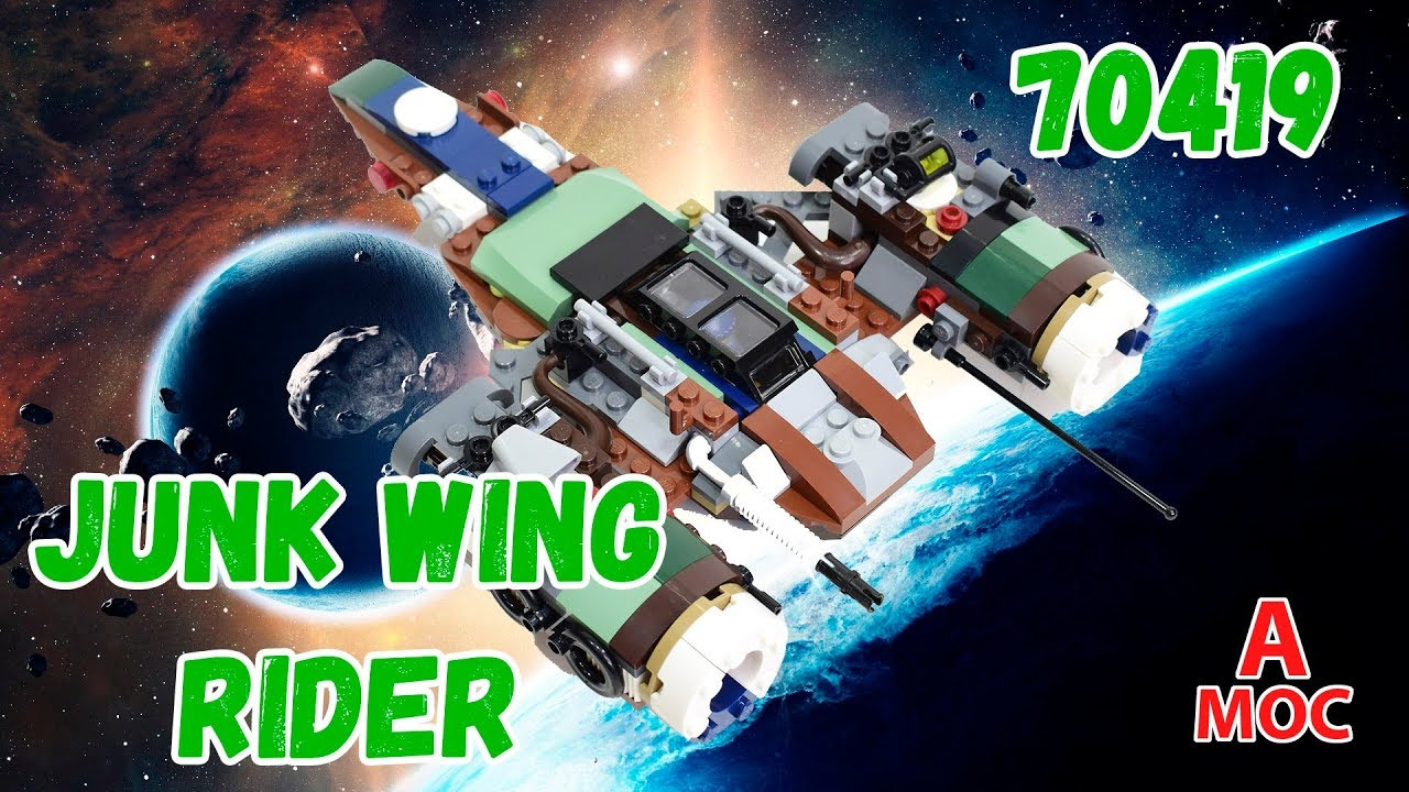 Junk Wing Rider. Spaceship Alternative build LEGO 70419 review (A MOC)