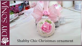 DIY Shabby Chic Christmas Ornament