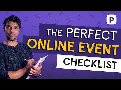 The PERFECT online event checklist