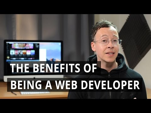 What are the benefits of being a web developer?