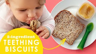 2-Ingredient Teething Biscuit Hack