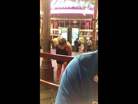 Puking Vegas Girl