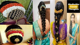 Latest Wedding Hair Styles || Indian Bridal Hair Styles || Beautiful Rose Bun Hair Style||party Styl
