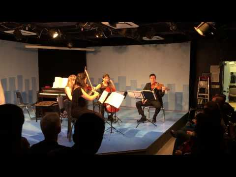 "A performance by the Ulysses Quartet of my contemporary piece called ""Troublemaker""."