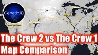 The Crew vs. The Crew 2 | Map Comparison