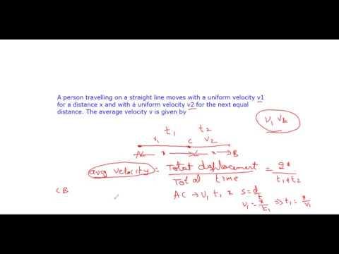 Average velocity Problem,Kinematics