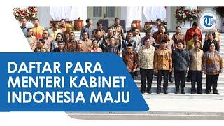 RESMI, Inilah Nama-nama Menteri Kabinet Indonesia Maju, Prabowo Subianto Jadi Menhan