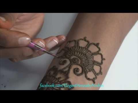 floral mehndi design by elegant henna