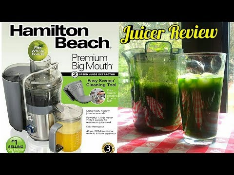 , Hamilton Beach Easy Clean Big Mouth 2-Speed Juice Extractor (67850)