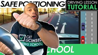 Road Position While Driving With Reference Points   Driving Tutorial