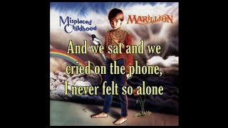 Marillion - Blind Curve (Lyrics) [HQ]
