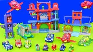 PJ Masks Unboxing: Catboy, Gekko & Owlette Headquarters, Romeo Toy Vehicles & Transform HQ for Kids