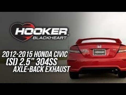 2012-2015 Honda Civic SI - Hooker Blackheart Axle Back Exhaust System BH7308