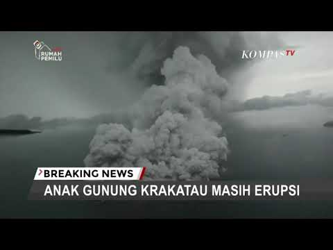 Video shows plumes of smoke rising above Anak Krakatau volcano, a day after the deadly tsunami hit Indonesia. The video of the volcano was taken from a plane inspecting the tsunami damage. (Dec. 24)