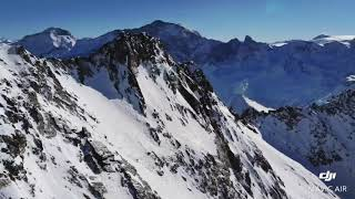 La plagne France ski resort top mountain 3150 m drone fly Top ski locations Europe tour 25.01.2019