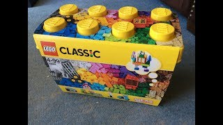 "LEGO Classic 10698 ""Large Creative Brick Box"" Unboxing, Speedbuild Part Analysis & Review"