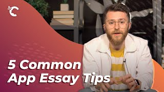 youtube video thumbnail - 5 Common App Essay Tips