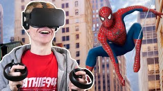 SPIDER-MAN SIMULATOR IN VIRTUAL REALITY!   Spider-Man: Homecoming VR (Oculus Touch Gameplay)