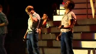 Westlife - I Gotta Feeling, Party Rock Anthem, Sex on Fire (Medley 1 - Newcastle 15/06/12)