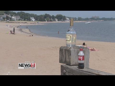 Beachgoers leaving trash on West Haven beach