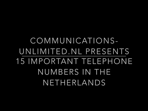 15 important telephone numbers in the Netherlands