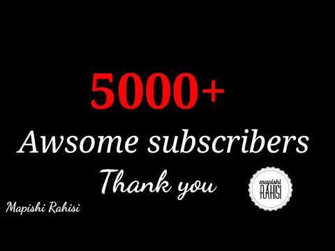 5000 subscribers asanteni! ❤❤❤