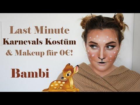 EASY DEER / BAMBI Makeup-Tutorial ♥ Karneval/Fasching Kostüm-Idee LAST MINUTE | livelikelola
