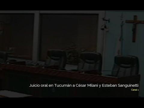 Juicio oral en Tucumán a César Milani y Esteban Sanguinetti   17.10.2019