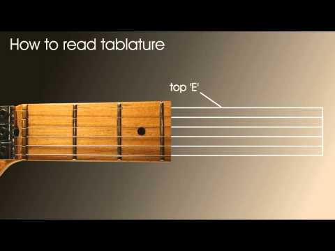 Guitar tab (tablature), absolute beginners guitar lesson on how to read tablature