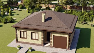 Проект дома 105-B, Площадь дома: 105 м2, Размер дома:  10,5x11 м