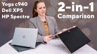 """Yoga c940 vs Dell XPS vs Hp Spectre   13"""" 2-in-1 Comparison"""